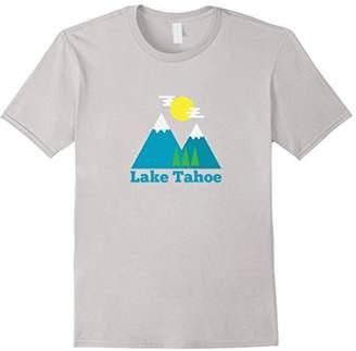 Vintage Style Mountain/Trees - Lake Tahoe California T-Shirt