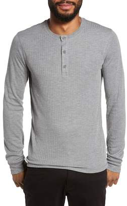 Vince Ribbed Knit Henley