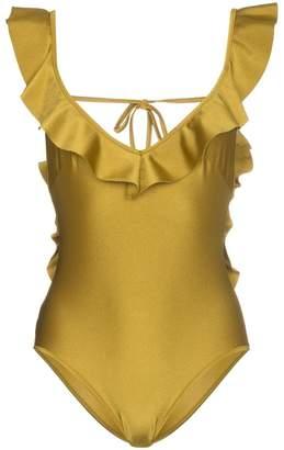 Zimmermann Jaya V-neck flounce swimsuit