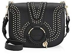852af2e46c1cb9 See by Chloe Women's Hana Studded Leather Saddle Bag