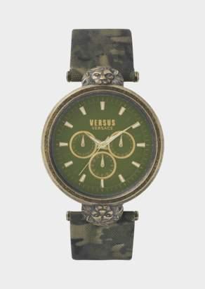 Versus Green Victoria Harbour Camo Watch