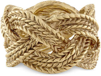 Rachel Roy Gold-Tone Rope Band Ring