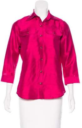Lauren Ralph Lauren Silk Button-Up Top