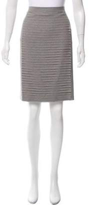 Akris Silk-Wool Knee-Length Skirt