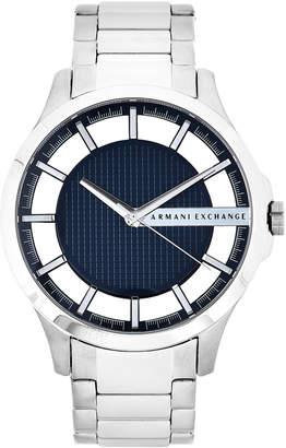 Armani Exchange AX2178 Silver-Tone & Blue Watch
