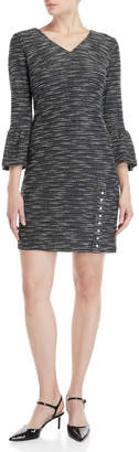 Karl Lagerfeld Paris Tweed Faux Pearl Dress