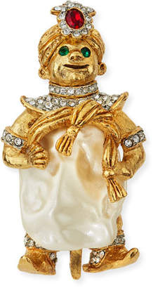 Kenneth Jay Lane Smiling Crystal Pin