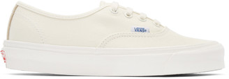 Vans Ivory Canvas OG Authentic LX Sneakers $60 thestylecure.com