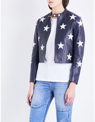Sandro Star motif leather jacket $610 thestylecure.com
