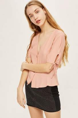 Topshop Button Down Blouse