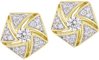 Affinity Diamond Jewelry Affinity 14K 1/2 cttw Diamond Cluster Stud Earrings