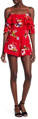 A.Calin Ruffled Floral Patterned Romper