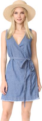 Madewell Denim Raw Hem Wrap Dress $118 thestylecure.com
