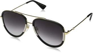 Gucci Men's Anti-reflective GG0062S-002-57 Aviator Sunglasses
