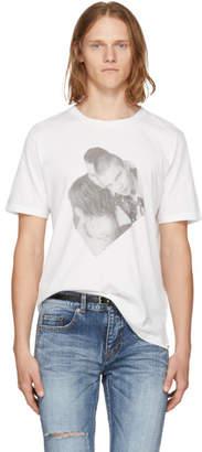 Saint Laurent White Campaign Photo T-Shirt