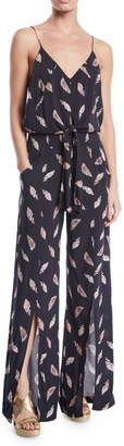Vix Nora Printed Wide-Leg Coverup Jumpsuit