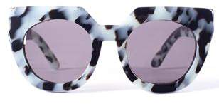 Valley Eyewear Spleen Baby Blue Snow Leopard Sunglasses