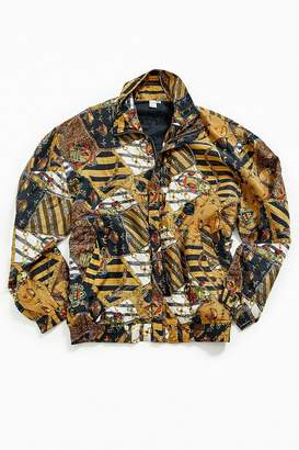 Urban Outfitters Vintage Vintage '90s Gold Scarf Print Jacket