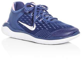 Nike Girls' Free RN 2018 Lace Up Sneakers - Big Kid