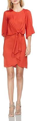Vince Camuto Textured Tie-Front Dress