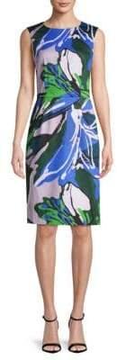 Carolina Herrera Printed Sleeveless Sheath Dress