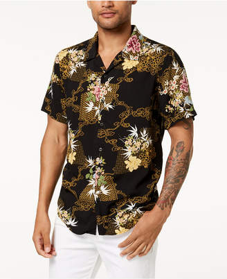 GUESS Men's Floral Shirt