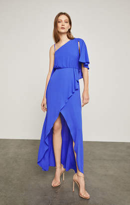 BCBGMAXAZRIA One-Shoulder Draped Gown