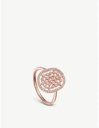 Astley Clarke Icon Nova 14ct rose-gold and diamond cocktail ring