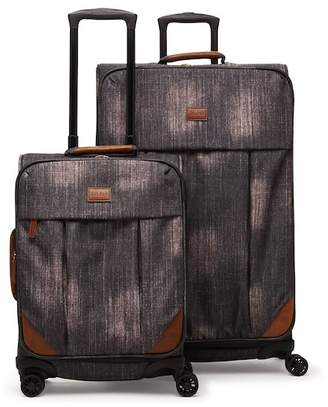 CalPak LUGGAGE Denym 2-Piece Luggage Set