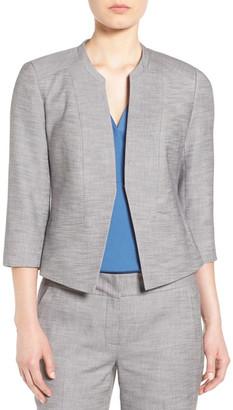 Classiques Entier Collarless Crosshatch Suit Jacket $278 thestylecure.com