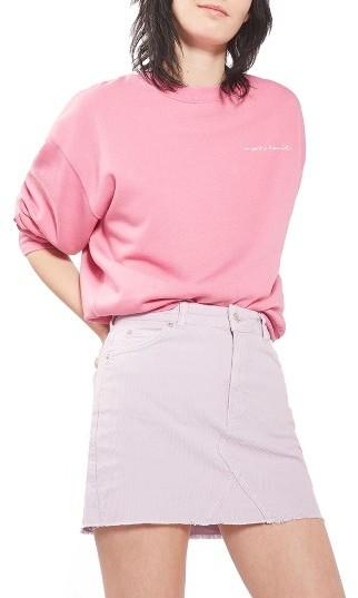Women's Topshop High Rise Corduroy Miniskirt