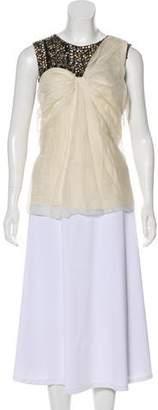 3.1 Phillip Lim Silk Sequined Sleeveless Top