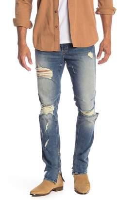 Hudson Jeans Vaughn Skinny Ankle Zip Jeans