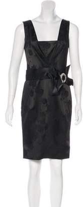 Dolce & Gabbana Satin Embroidered Dress