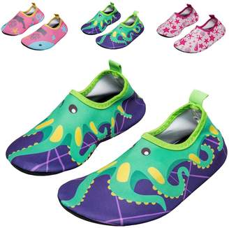 Pool' WXDZ Boys Girls Water Shoes Swim Shoes Quick Drying Barefoot Aqua Socks for Kids Beach Pool