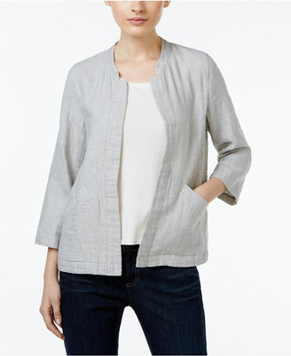 Eileen Fisher Organic Linen-Cotton Open-Front Jacket $218 thestylecure.com