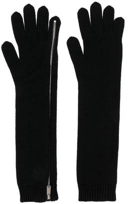 DSQUARED2 zipped knit gloves