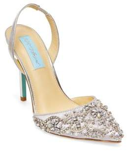 Betsey Johnson Blue by Embellished Pointed Sandals
