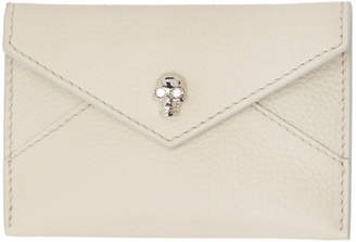 Alexander McQueen Off-White Envelope Card Holder