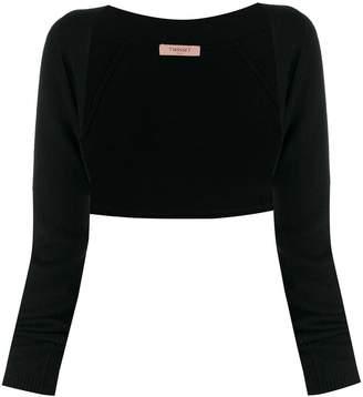 Twin-Set knitted logo charm bolero