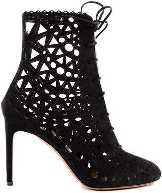 Alaia Openwork Patterned Boots