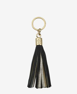 GiGi New York Tassel Key Chain, Black and Gold