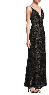 BCBGMAXAZRIA Sequin Embellished Dress