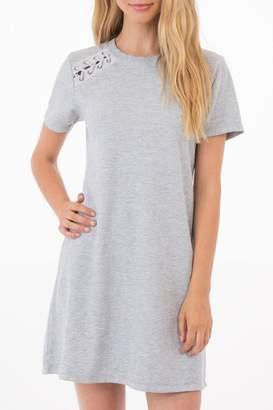 Others Follow Grey T-Shirt Dress