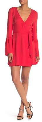 BCBGeneration Bell Sleeve Front Tie Dress