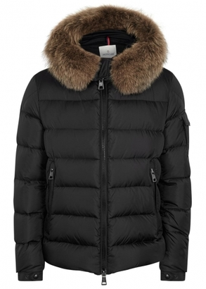 df147ab1e Moncler Byron black hooded quilted shell jacket