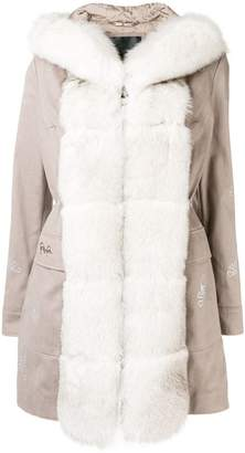 Philipp Plein fur trim parka
