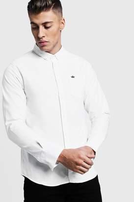 boohoo Long Sleeve Oxford Shirt