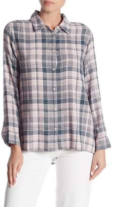 Melrose and Market Side Button Plaid Top (Regular & Petite)