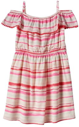 Girls 4-8 SONOMA Goods for LifeTM Striped Ruffle Dress $32 thestylecure.com